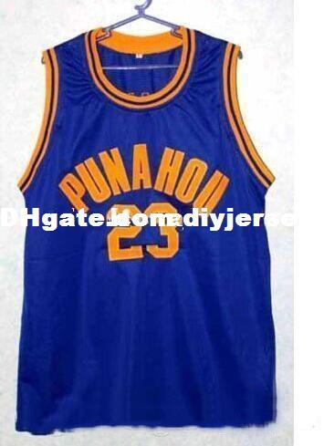 BARACK OBAMA #23 PUNAHOU HIGH SCHOOL BASKETBALL JERSEY College Top Stitched Jerseys Customized Any Name And Number NCAA