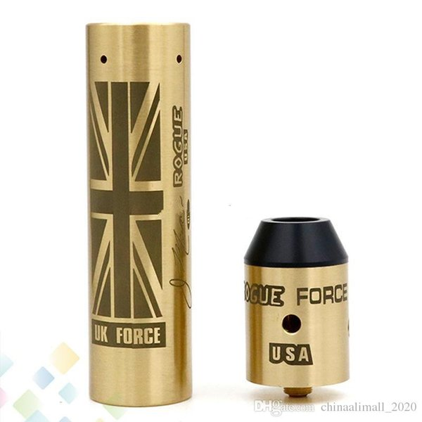 Best Rda 2020.2018brass Rogue Force Mod Kit Come With Rogue Mechanical Mod And Rogue Force Rda Fit 18650 Battery Electronic Cigarette Dhl Free Best Electronic