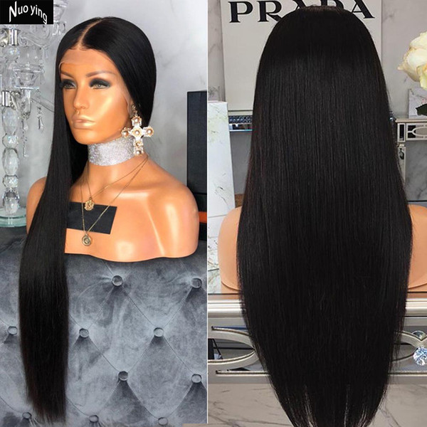 Full Lace Human Hair Wigs With Baby Hair Straight Brazilian Transparent Lace Wig Braided Glueless Full Lace Wig Remy