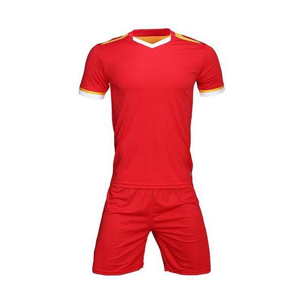 TOP maillot de football 2019 2020 Maillot de foot uni UTD 19 20 uniformes de soccer homme + enfants maillots kit 039