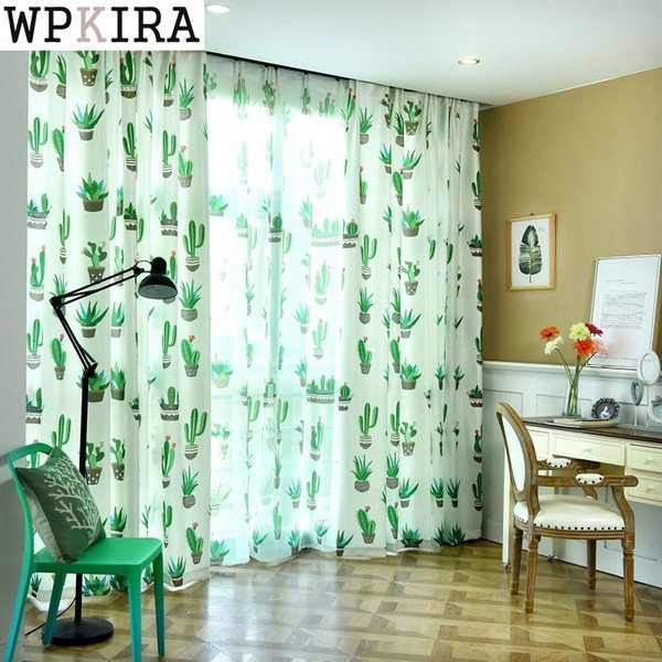 2019 Cactus Cotton Linen Curtain Modern Rustic Red Quality Living Room  Curtains Fabrics Kitchen Door Curtains Drapes 204&20 From Adeir, $38.39 |  ...