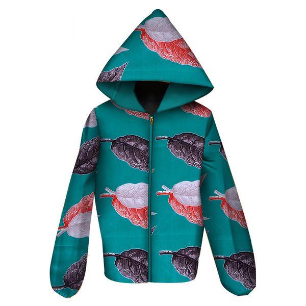 Afrika Balmumu Baskı Kapüşonlu Ceket Kadın Takım Elbise Dashiki için Tam Kollu Çentikli Artı Boyutu 6xl Afrika Pamuk Ceket Kaban WY3956