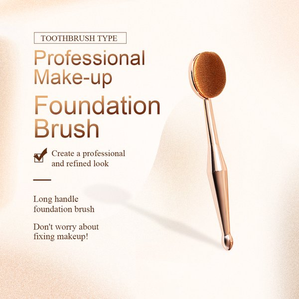 Toothbrush Type Foundation Brush for Women Soft Portable Multi-function Makeup Brush Wholesale High Quality Cosmetic Makeup Brushes