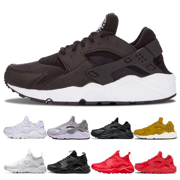 nike air huarache shoes Venta caliente Huarache Running Shoes 1.0 4.0 Hombres Mujeres Triple Blanco Negro Rojo Gris Dorado Zapatillas de deporte Huaraches Zapatillas deportivas