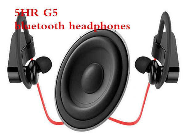 Großhandel 5hr sport musik drahtlose kopfhörer universal in ear stereo kopfhörer power3 g5 ohrbügel headset ohrhörer mit mic für iphone android