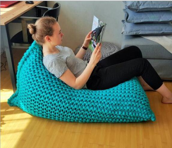 Bean Bag wool Lounger Cover living room furniture Sofa Chairs Without Filling Beanbag Beds lazy seat zac kids indoor Beanbags
