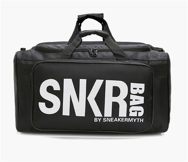 New SNKR Designer Duffle Bag 19ss Mens Womens Designer Bags Black White Large Big Capacity Travel Bag Gym Bags