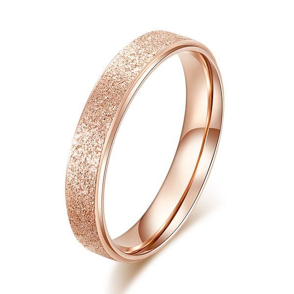 Casar-me Casal Anéis 18 K Rose Gold Cristal De Platina Eu Amo Você Todo O Dia longo Mulheres Homens Para Sempre Anéis de Amor de Luxo Jóias de Casamento Noivado