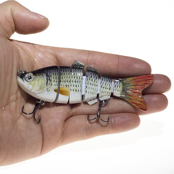 6 cezbeder 10cm 17 g sığ su simülasyon renk çok bölüm yol alt yem yem balık yemi sert yem bölümü