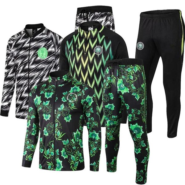 best selling Best quality 2018 World Cup National Nigeria Long Sleeve Training Suit Soccer Football Sportswear Chandal Set Fashion outdoor suit