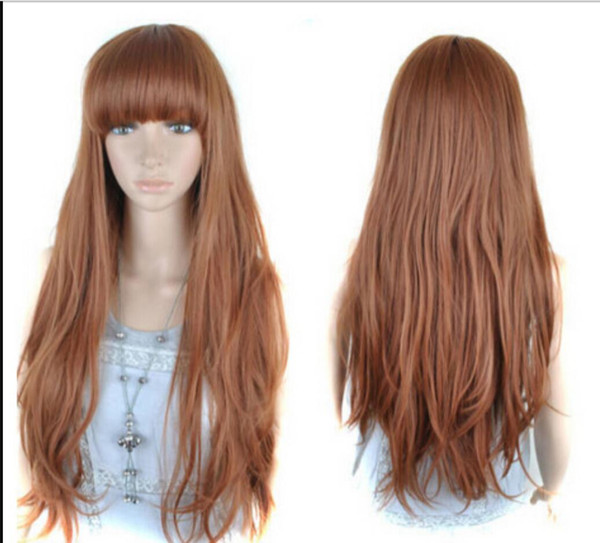 WIG Free Shipping Party Loose Wavy Long Women's Wigs Linen Color
