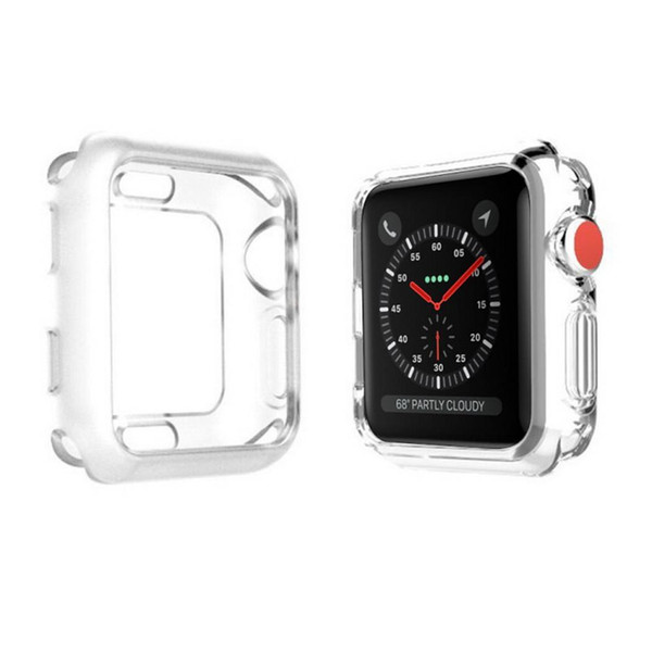 Sports Wrist Watch Silicone TPU Case For Apple Warch 4 Smart Band Bracelet Replacement Fitness Pedometers Transparent Band Cover