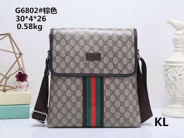 209 Famous Leather Men Bag Briefcase Casual Business Leather Mens Messenger Bag Vintage Men's Crossbody Bag bolsas male 3A 003