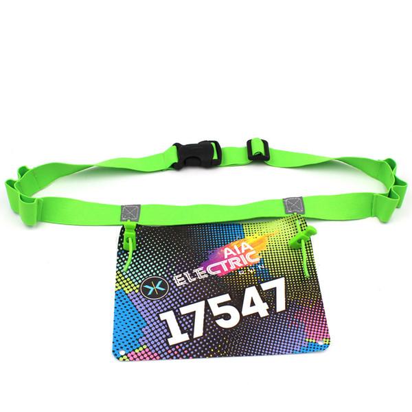 Men Women Triathlon Marathon Race Number Belt Running Waist Pack Cloth Bib Holder Run Bag with 6 Gel Loops Startnummernband
