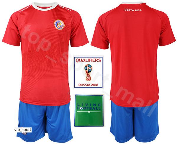 Costa Rica-Weltcup-Set 2018 10 Ruiz-Fußballtrikot 5 Borges 12 Campbell 11 Venegas 21 Urena-Fußballtrikot-Set 13 Wallace Waston 7 Bolanos
