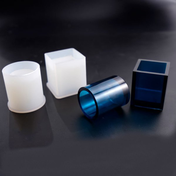 1PCS Translucent Silicone Pen Container DIY Jewelry Making Tool Moulds UV Epoxy Resin Decorative Craft