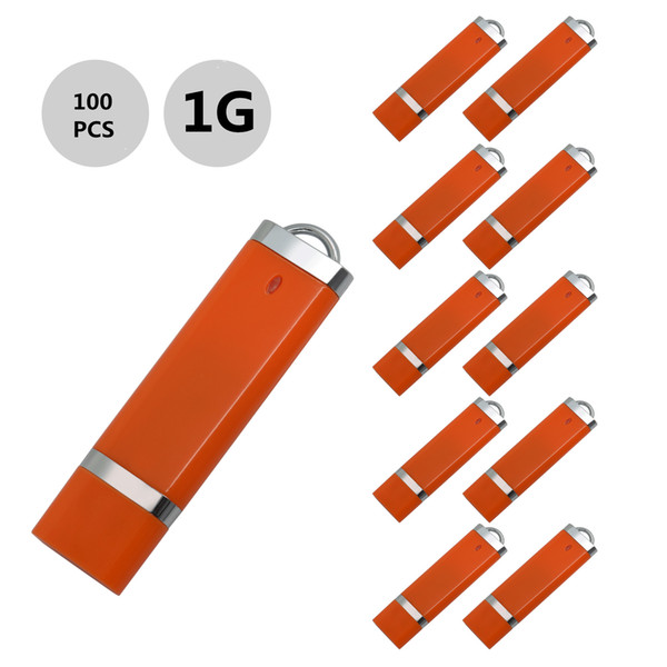 j_boxing Orange 100PCS 1GB USB 2.0 Flash Drives Lighter Model Pen Drives USB Memory Stick Thumb Storage for PC Laptop Macbook Tablet U Disk