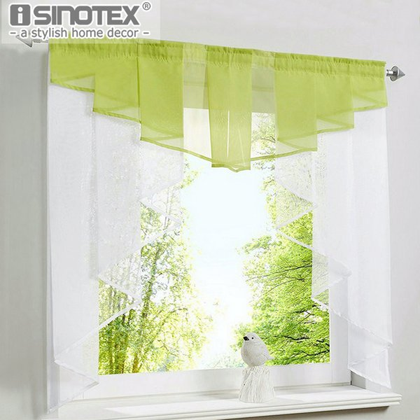 oman curtain blinds Roman Curtain Blind Valance for Window Pleated Design Stitching Colors Tulle Balcony Kitchen Panel Polyester Rod Pock...