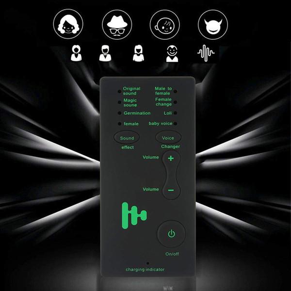 7 verschiedene Sound Mikrofon Voice Changer Gerät für Geschenk Geburtstagsgeschenk Kids / XBOX / PS4 / Telefon / iPad / Computer / Laptop / Tablets