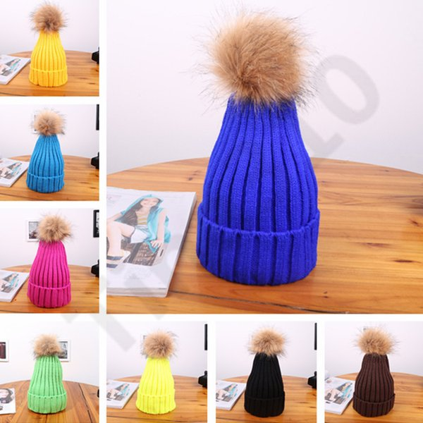 20 Color Women's Knitted Cap Autumn Winter Men Cotton Warm Hat Skullies Brand Heavy Hair Twist Beanies Solid Color Wool Hats 1000pcs T1I1139
