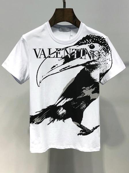2019 Yeni Karikatür Baskılı t shirt Pamuk Sokak Lüks Rahat Tee Hip Hop T-shirt Erkekler Yaz Kısa Kollu Streetwear Tasarımcı Giyim