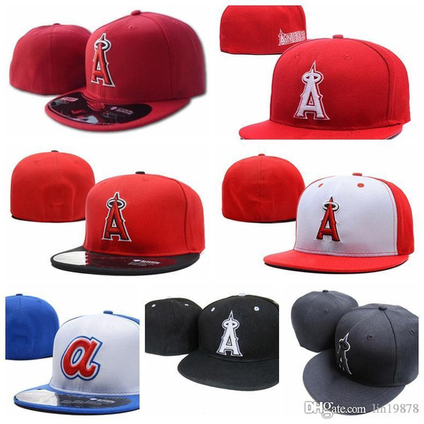 top popular 2019 New Summer Angels A letter Baseball caps gorras bones men women Casual Outdoor Sport Fitted Hats 2021