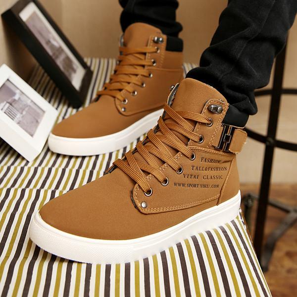 2019 outono e inverno novos sapatos masculinos coreanos de alta-top sapatos retro dos homens casuais moda Martin botas