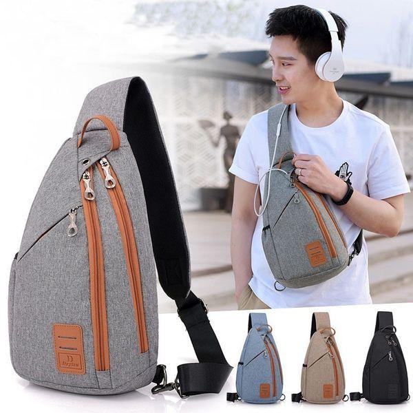 Men Backpack Chest Pack Casual Sling One Shoulder Bagpack Multifunction Crossbody Bag Travel Back Pack Mochila Masculina Bolsas Y19061204