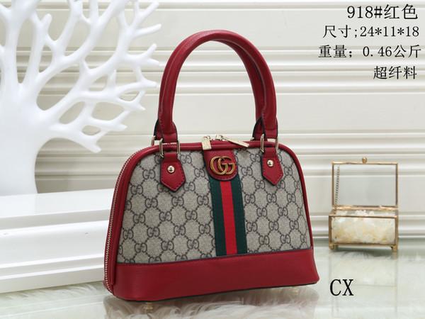 2019 bolsos de diseñador de calidad superior de cuero genuino de lujo bolso de mano de embrague bolsos de hombro monederos bolso de las señoras 8018