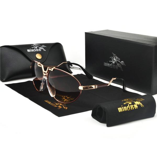 2019 New Famous Brand Design transparent Women Men Drive Sunglasses Clear Lens Glasses Male Female Eyeglass with box FML