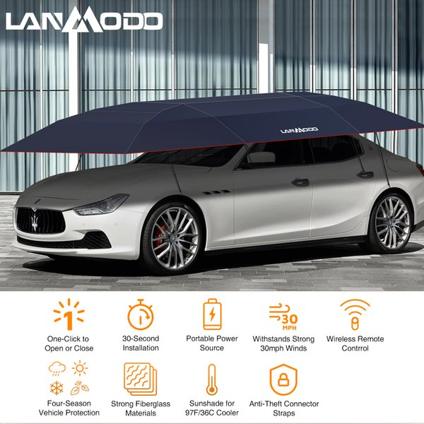 Lanmodo Sun Protection Off-road Roof Top Tent for Outdoor Parking Automatic Car Sunshade Roof Tent With Anti-theft features