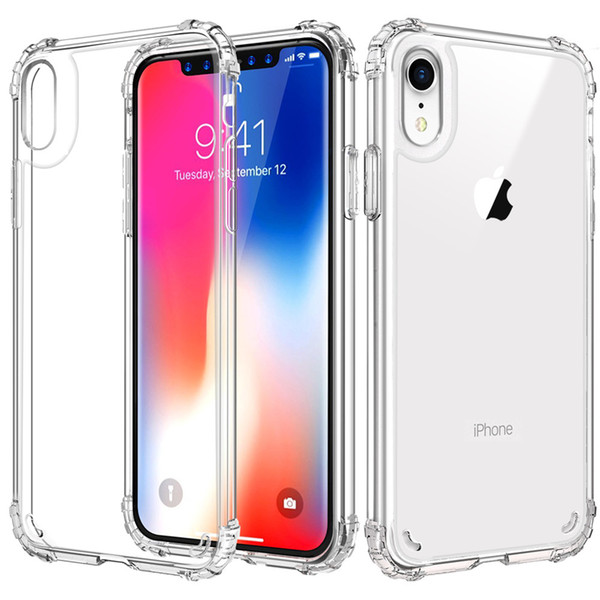 For Iphone XR Case Luxury Newest Clear Soft TPU Frame Hard PC Back Cover Phone Cases for Iphone Xs Max