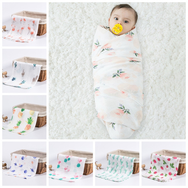 best selling Muslin Baby Blankets Soft Swaddle Wrap Organic Cotton Baby Bath Towel Cart Nurse Cover Bedding Sheet Newborn Photography Accessories DW4656