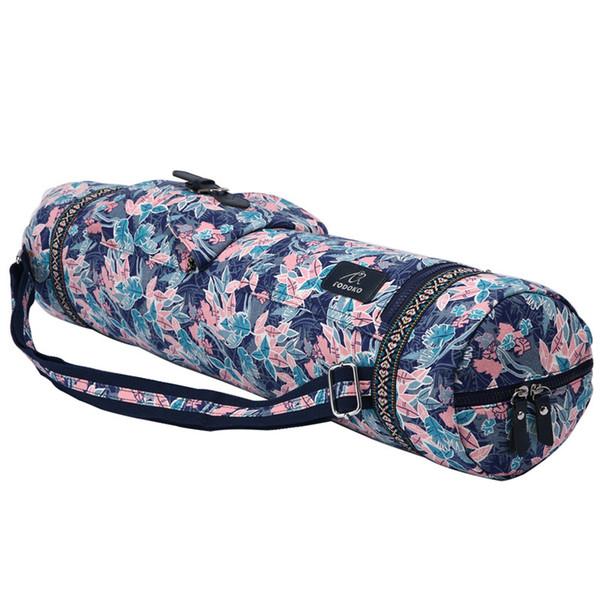 Pink Leaf Yoga Matte Tasche verstellbare Trommel Tasche Sport Rucksack Fitness Gym Schulter Frauen Mädchen Tanz Pilates Pad Taschen