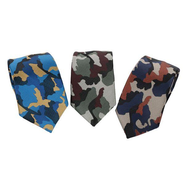 Мода Камуфляж Tie Mens Цветочные полиэстер Тощий Thin Army Camo Галстук Мужская одежда аксессуары для деловой костюм