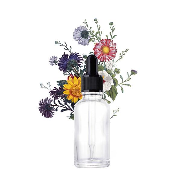 Envase vacío de la botella de cristal del viaje del aceite esencial de la loción 30ml con el dropper