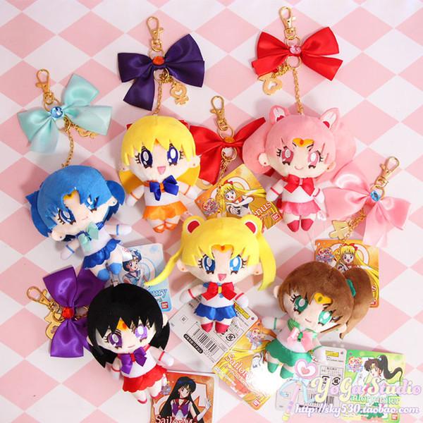 Cute Girls Gift Sailor Moon Harajuku Keychain Cardcaptor Sakura Sailor Moon plush doll KeyChain for Women key Bag