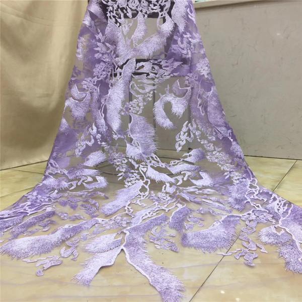 Tessuto del merletto di nuovo stile francese perline vestito netto Bella africano del ricamo tessuto della maglia del merletto di Tulle di alta qualità per Wedding