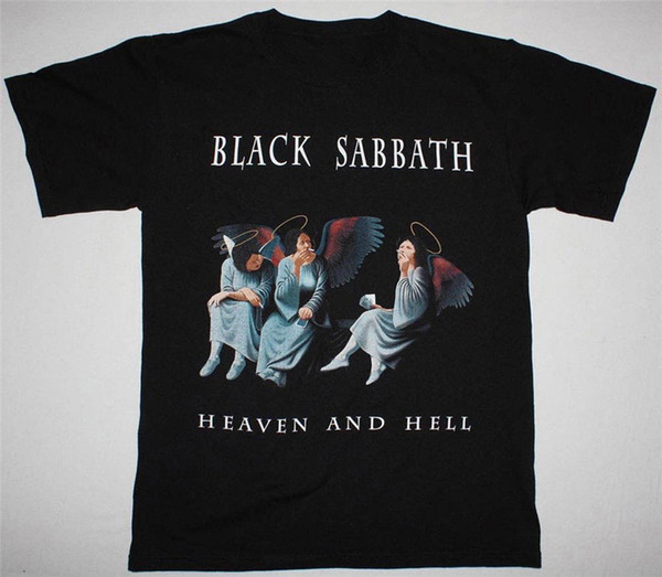 Black Sabbath Heaven And Hell редкометаллической Tee, Мужские Унисекс Rock Футболка Забавный дизайн Tee Shirt