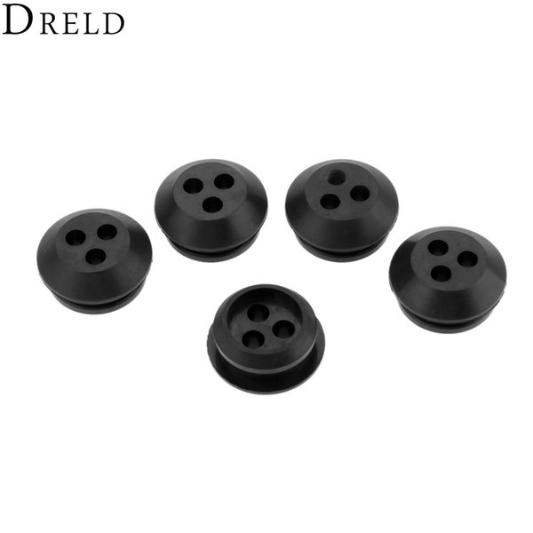 heap Tool Parts DRELD 5Pcs Rubber 3 Hole Fuel Line Gas Tank Grommet fit for Echo GT-200EZR Trimmer Lawn Mower 13211546730 V137000030 Repl...