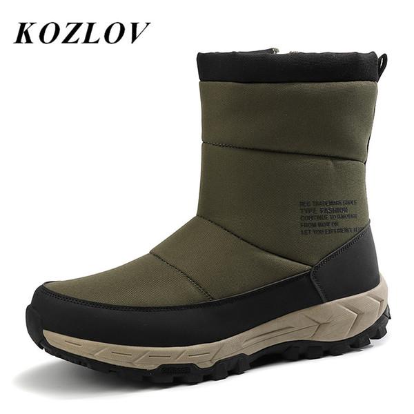 Super chaude hommes toile Bottes hiver cheville pour hommes Denim neige Zip extérieur en peluche fourrure homme Chaussures Grande Taille Kozlov