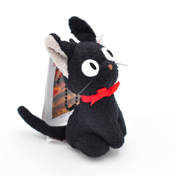 Witch Home Delivery Small Black Cat plush Toy Pendant Doll Wholesale Japan Original Single Anime Small Black Cat Stuffed Doll