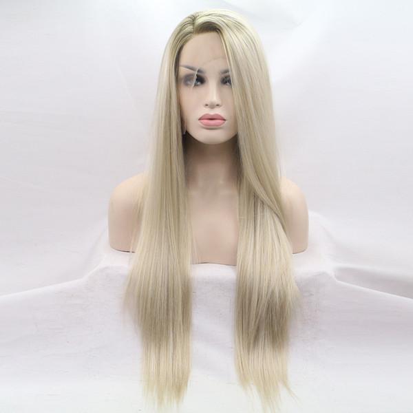 Hot longa reta sintéticas perucas de cabelo para as Mulheres resistente ao calor peruca sintética de alta qualidade venda direta da fábrica