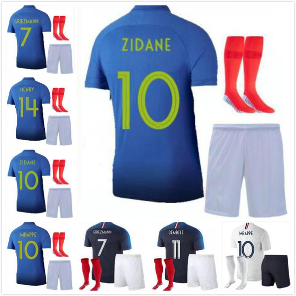 watch 5439c faa89 2019 New Arrive 100 Years MBAPPE Griezmann FRANCE Soccer Jersey POGBA KANTE  1919 2019 DEMBELE GIROUD MATUIDI Adult Kit 100th Football Shirt From ...