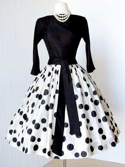 Women Velvet Patchwork Dress Elegant Polka Dots Expansion Umbrella Dress Spring Autumn Lady Black Ball Grown Vintage