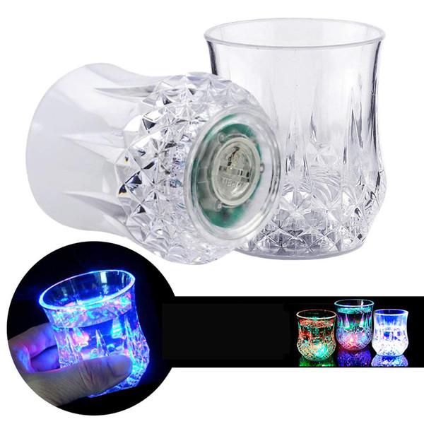 Acryl LED bunte Licht blinkende Tasse Bier Bar Becher trinken leuchtende Tasse Nachtclub für Party Hochzeit Clubs Weihnachten Halloween Dekoration