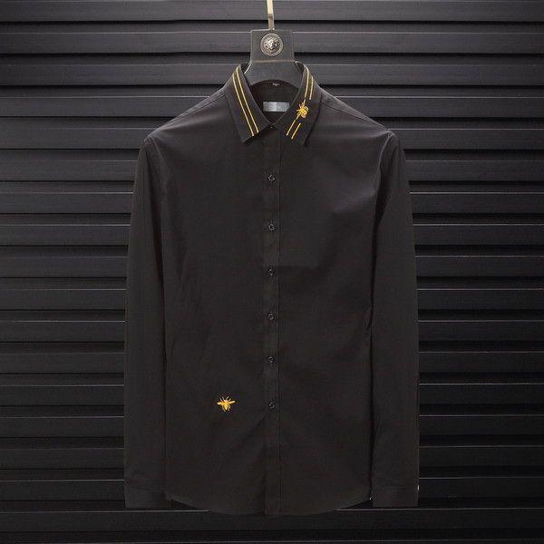 2019 Saf Renk Bahar Sonbahar Yüksek Moda Marka Tasarımcısı Erkek Kadın Gömlek Hayvan Rahat Iş Ofis Gömlek Uzun Kollu Bluz B100227V