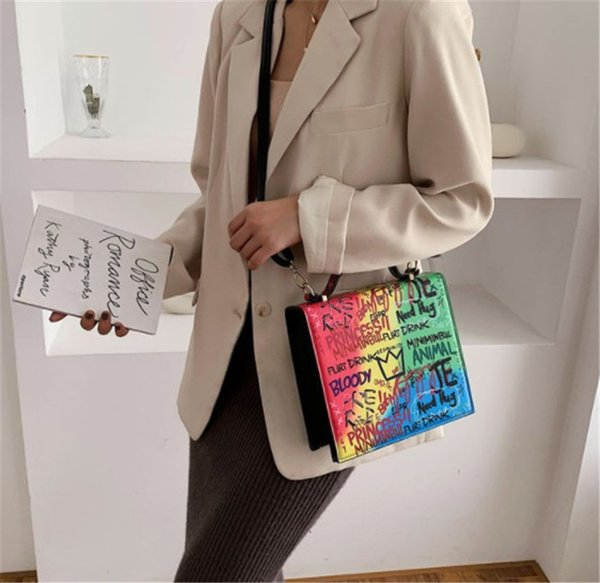 best selling 2020 new fashion One Shoulder Girl Fashionable Women Bags with Colorful Letter Messenger Bag C0py PH-CFY2001131
