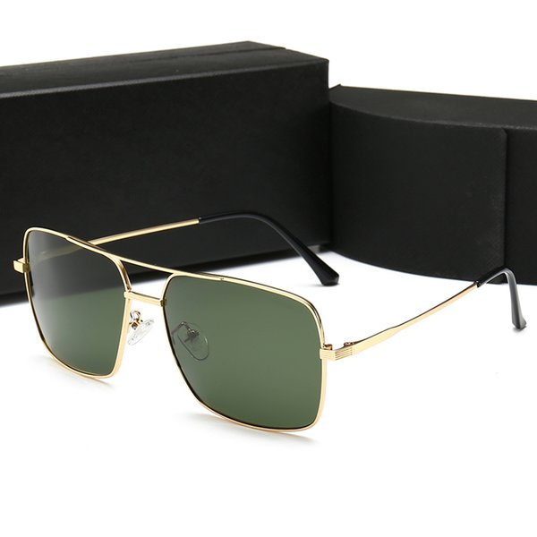98015 luxury sunglasses design lens and UV400 lens Picture frame and its metal leg is wrapping material