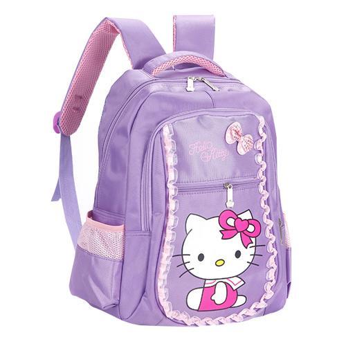 Purple A School Bag